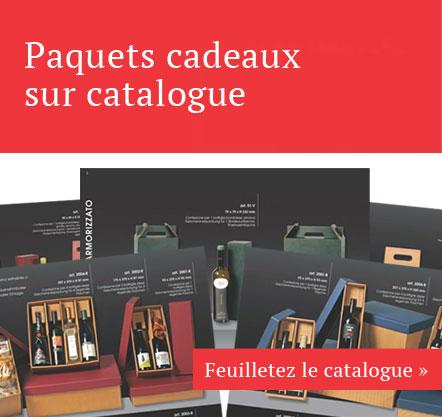 Paquets cadeaux sur catalogue