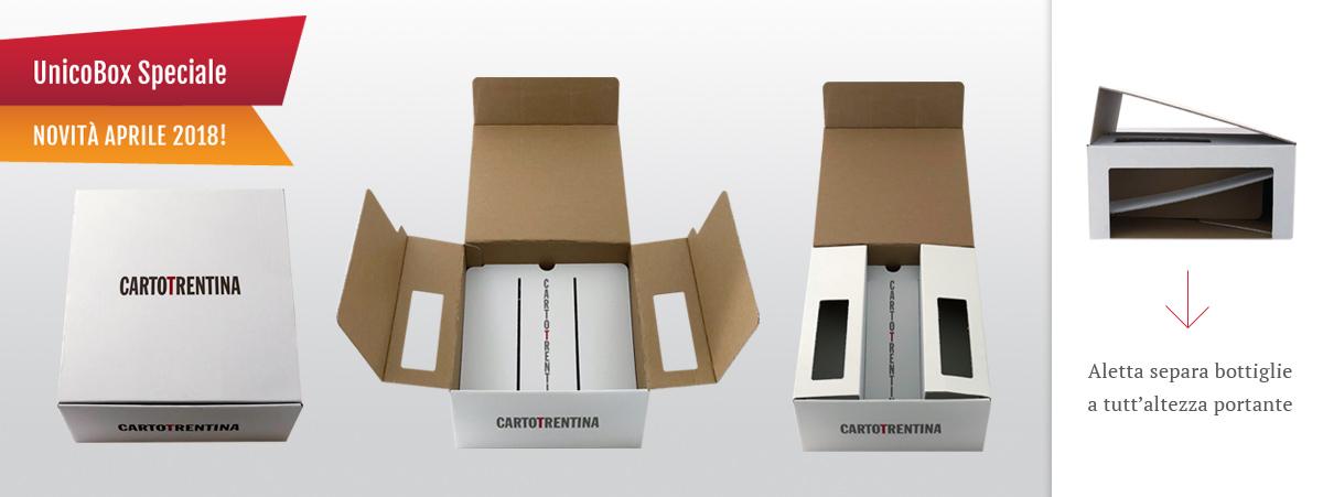 UNICOBOX per bottiglie con formato Speciale